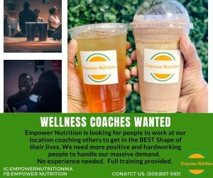 Wellness Coaches Wanted